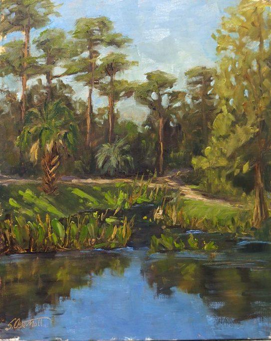 Painting of Ravine Gardens State Park