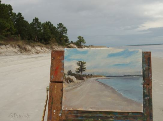 Painting on the shore