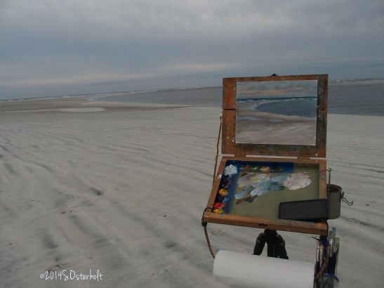 Painting in Progress at Little Talbot Island