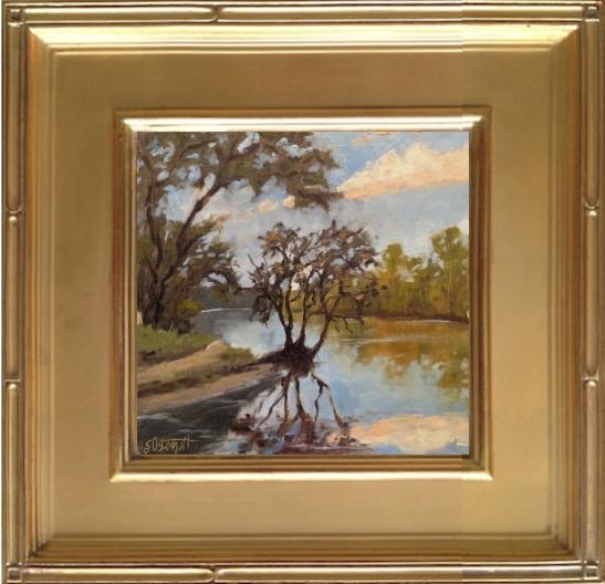 "Lafayette Blue Springs - 8x8"" oil on linen panel"