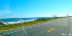 View from car on the drive along A1A