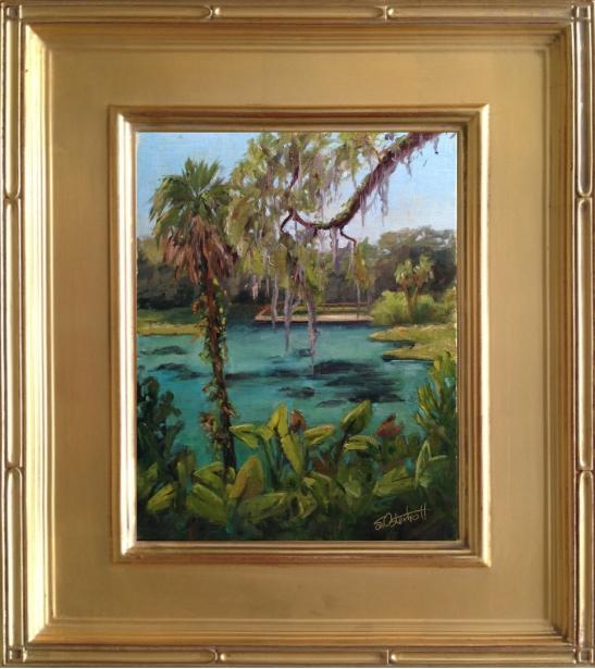 """Rainbow Springs"" Painting #18, 8x10"" oil on linen panel Plein Air"