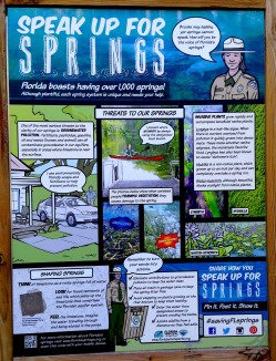 Display explains the threats to our springs