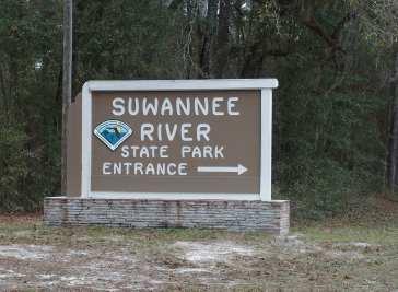 Suwannee River State Park Entrance