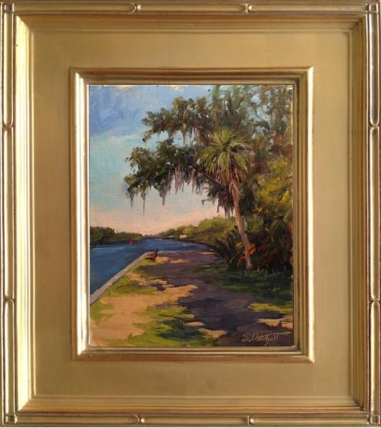 """Washington Oaks Waterfront"" 8x10"" oil on linen panel - en plein air"