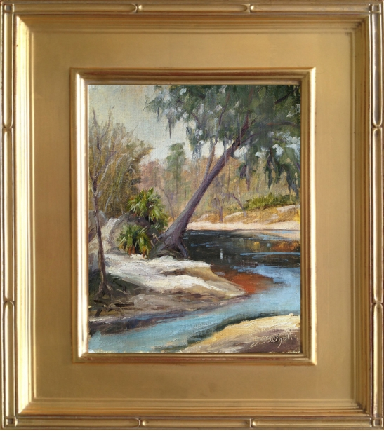 """""""Way Down upon the Suwannee River"""" plein air painting 8x10"""" oil on linen panel"""