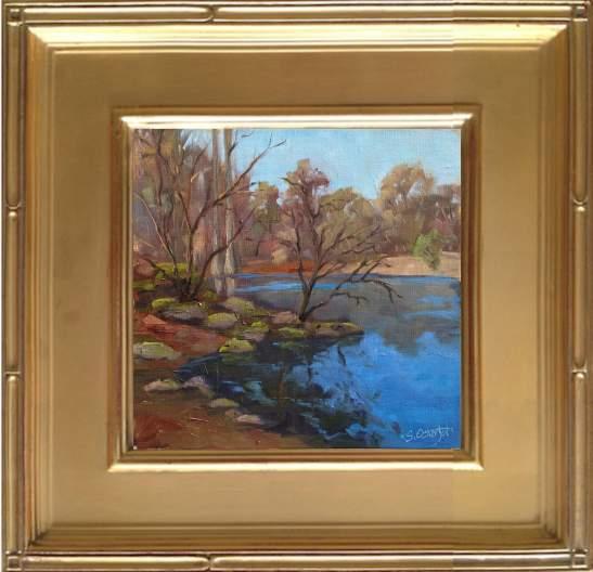 "Troy Springs - 8x8"" oil on linen panel"