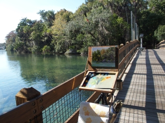 Painting on the walkover bridge