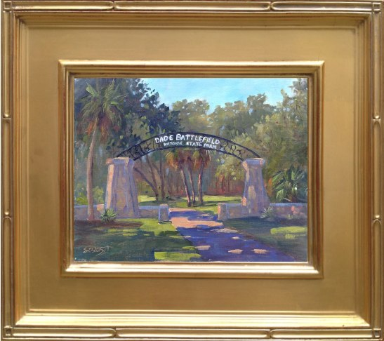 "Dade Battlefield Historic Entrance - 8x10"" oil on linen panel - en plein air"