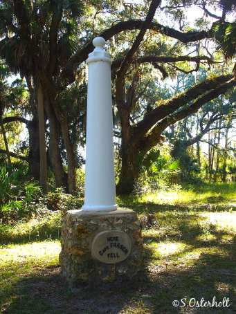Monuments line the self guided trail