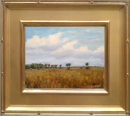"""Kissimmee Prairie Preserve - Plein air 8x10"""" Oil on linen panel"""