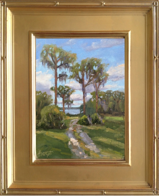 "Lake June-in-Winter - en plein air, 6x8"" oil on canvas panel"