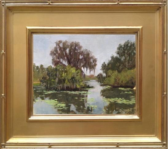 "Rainy Day at Alafia River State Park  8x10"" oil on linen panel en plein air"