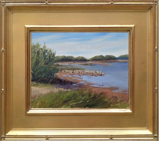 "Cedar Key Oyster Beds - 8x10"" oil on linen panel en plein air"