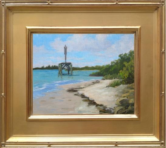 "Painting # 37 - Ft. Pierce Inlet  8x10"" oil on linen panel en plein air"
