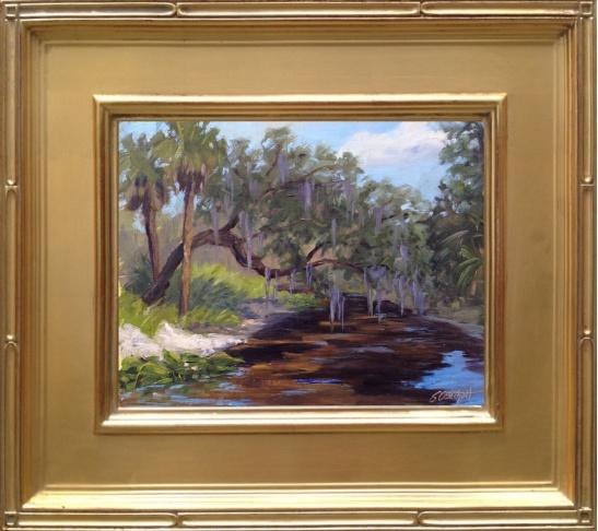 "Paynes Creek en plein air 8x10"" oil on linen panel"