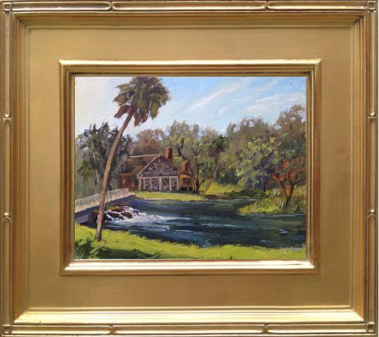 """Painting #42 - DeLeon Springs State Park 8x10"""" oil on linen panel en plein air..."""