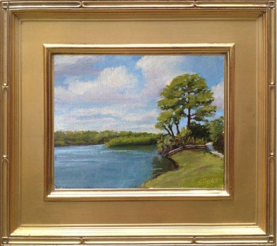 "Shores of the Loxahatchee - Jonathon Dickinson State Park 8x10"" oil on linen panel en plein air"