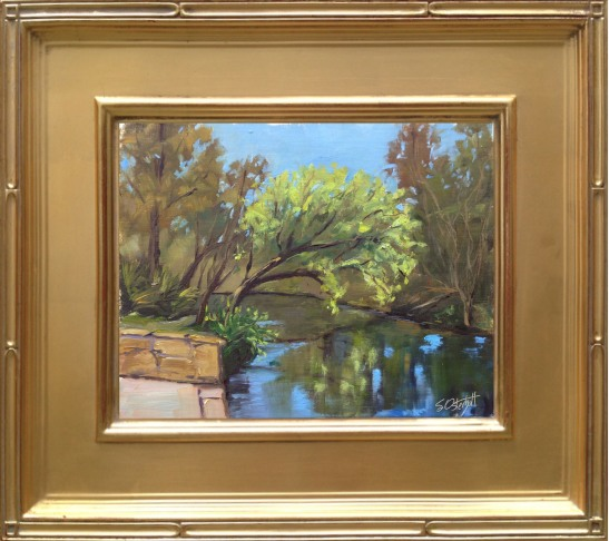 """Plein Air painting - Little Manatee River State park 8x10"""" oil on linen panel"""