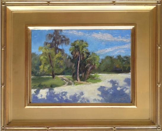 "Painting - Oscar Scherer State Park  6x8"" on canvas panel en plein air"