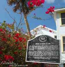 Historic Marker at Everglades City Rod and Gun Club