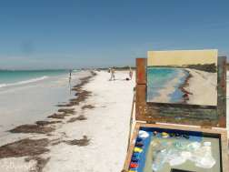 Caladesi Island beach painting in progress