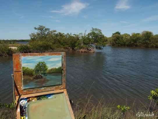 Terra Ceia painting in progress