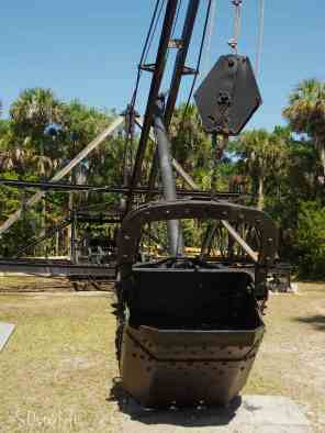 The old dredge used to carve a path for the Tamiami trail....
