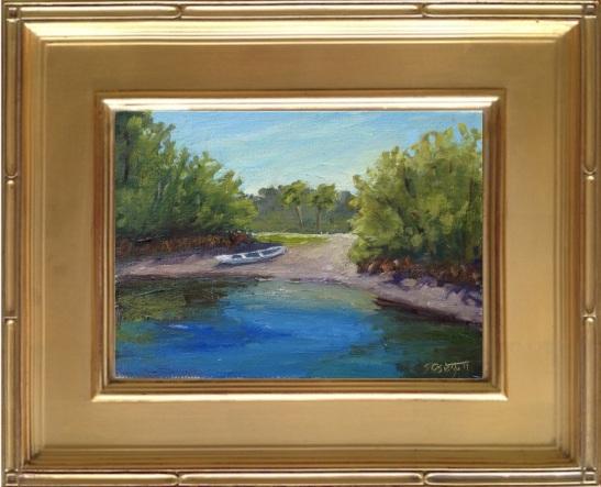 "Collier Seminole State Park Plein Air Painting - 6x8"""