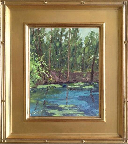 "Fanning Springs  8x10"" oil on linen panel en plein air"
