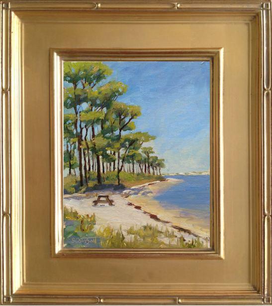 Big Lagoon Painting - 8x10