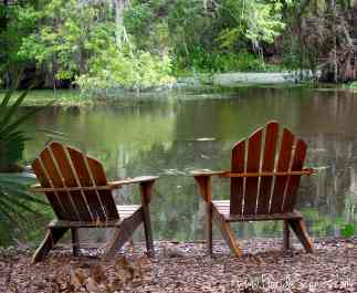 Sit and relax and enjoy the view of Cross Creek