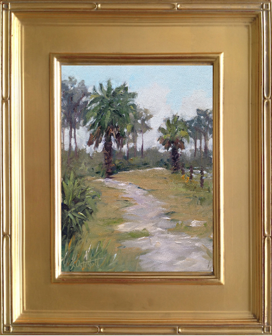 Painting at Estero Bay Preserve State Park 6x8