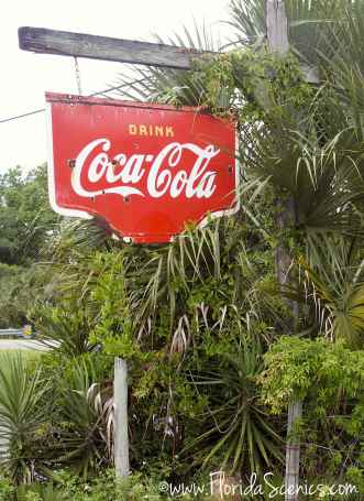 Coca Cola sign at the Yearling
