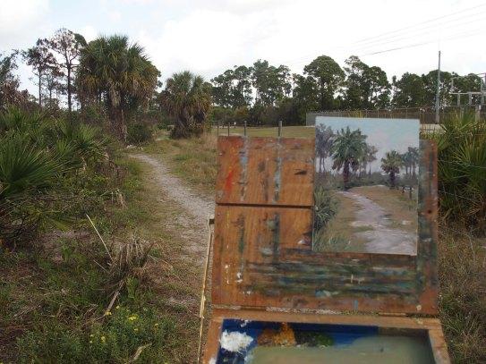 Estero Bay painting in progress