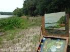 Painting in progress at Paynes Prairie
