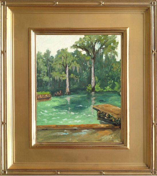 Ponce de Leon Springs State Park Painting - 8x10 framed oil on linen panel