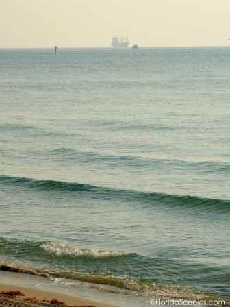 Smokey ship silhouette