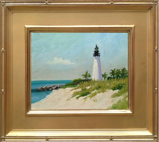 Cape Florida Lighthouse Framed - 8x10