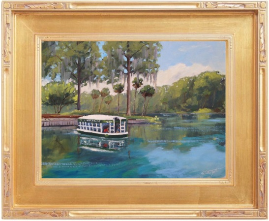 Silver Springs Glass Bottom Boat - 12x16