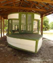 Vintage restored glass bottom boat