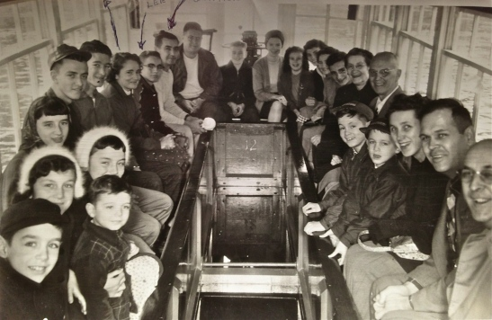 Riding the Glass bottom boat 1949