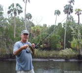 Rick with a bass on the Econfina