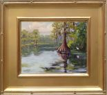 "Wakulla Springs Cypress - 8x10"" oil on linen panel"