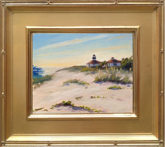 "Port Boca Grande Lighthouse - 8x10"" oil on linen panel"