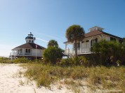 The Port Boca Grande lighthouse and keepers house overlook the pass