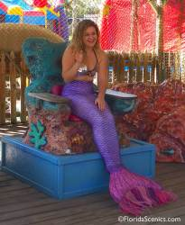 Free photo ops with a mermaid!