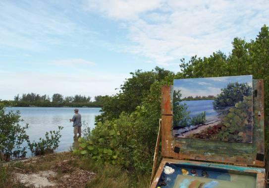 Fishin and paintin