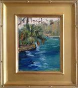"Wekiwa Springs - 8x10"" oil on linen panel."