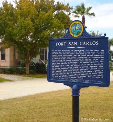 Fort San Carlos sign